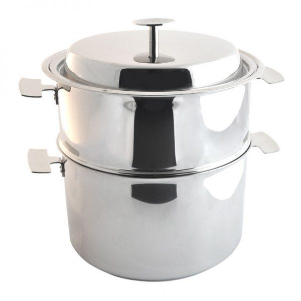 Ensemble de cuisson 3 en 1 : cuisson douce basse température, vapeur douce et bain marie