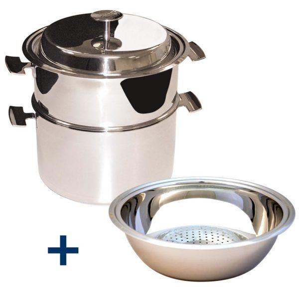 Ensemble de cuisson et passoire creuse : un Ensemble cuisson douce polyvalent