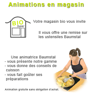 Animation en magasin bio