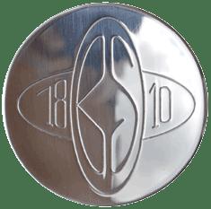 Logo double élipse Baumstal : Inox 18/10