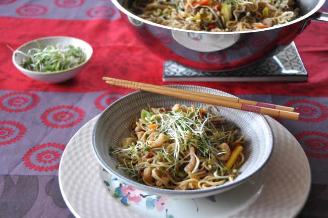 Recette de mines avec cuisson au wok