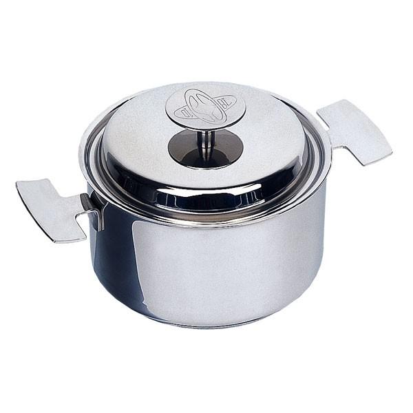 Marmite inox 16 cm et son couvercle. Pour des cuissons à basse température ou toutes vos recettes habituelles. Baumstal