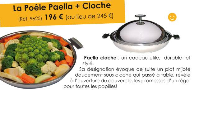 Promo : La Poele Paella et son couvercle cloche en inox