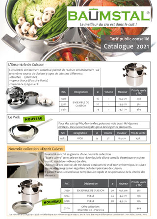 Catalogue et tarif public conseillé de la gamme Baumstal