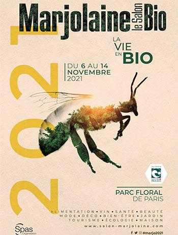 Salon bio Marjolaine 2021. Paris Parc Floral.