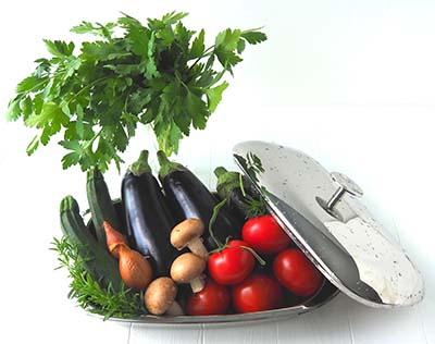 Les légumes qui entre dans la réalisation de la recette de lasagnes d'aubergines